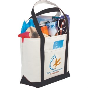 branded canvas boat tote bag
