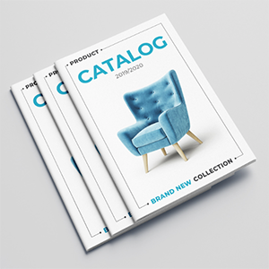 Custom printed catalogs