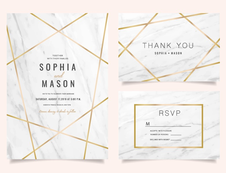 thank you card RSVP invitation printing