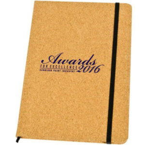 Cork cover journal with your logo