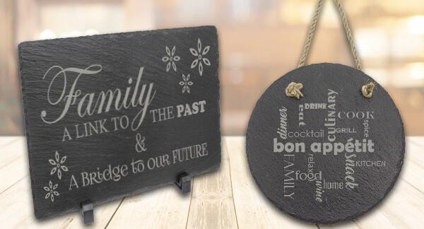 Laser engraved personalized slates